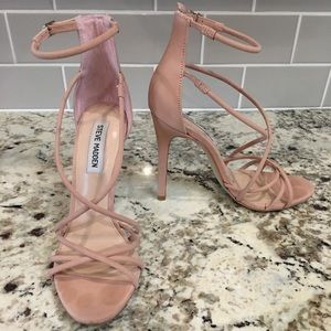 Steve Madden | Pink Strapped Heel | Size 8